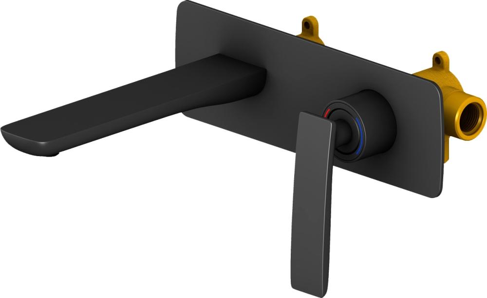 Смеситель для раковины встроенный Timo Helmi 4071/03SM black