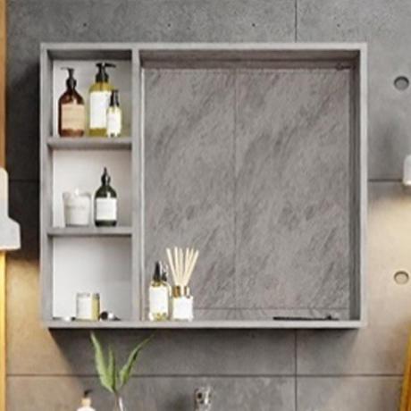 Шкаф-зеркало Onika ДЕВИС бетон чикаго 80.00У