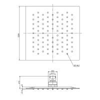 Верхний душ OMNIRES WGU220/KCR 20х20 см (хром)_1