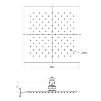 Верхний душ OMNIRES WGU225/KCR 25х25 см (хром)_1