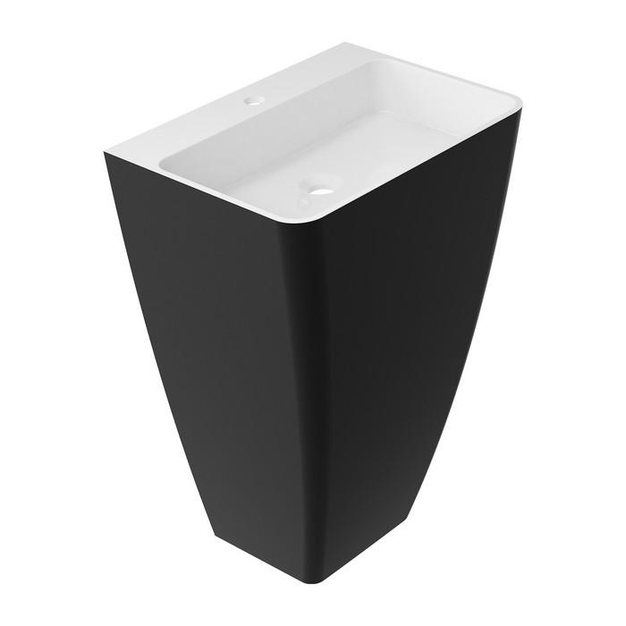 Умывальник OMNIRES PARMA отдельностоящий с отверстием под смеситель 55х43 см (белая/черная)
