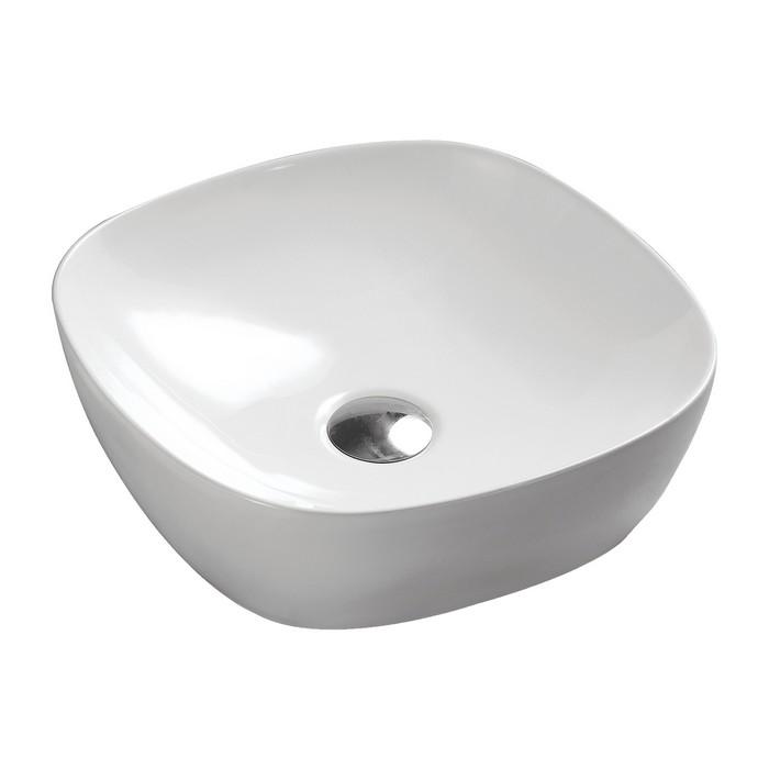 Умывальник OMNIRES PORLAND настольный 37х37 см (белый глянец)