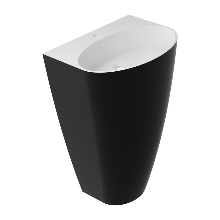 Умывальник OMNIRES SIENA отдельностоящий (белый/черный глянец)