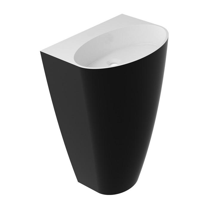 Умывальник OMNIRES SIENA отдельностоящий без отверстия (белый/черный глянец)