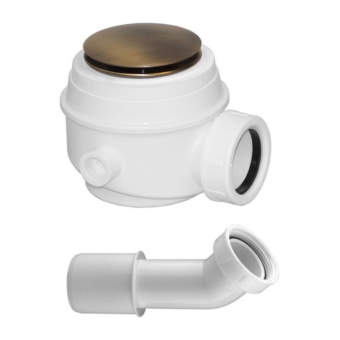 Сифон для ванны и душевого поддона OMNIRES (бронза)