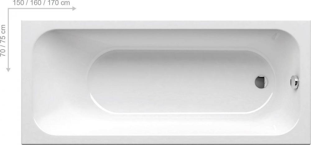 Ванна акриловая прямоугольная Ravak CHROME 170х75 C741000000