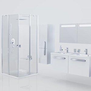 Смеситель термостатический скрытого монтажа Chrome с переключателем ванна/душ Ravak CR 063.00