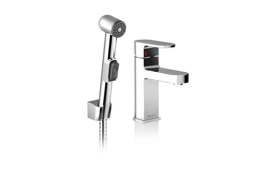 Смеситель для умывальника с гигиеническим душем Ravak CR 112.00