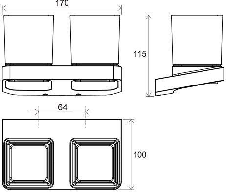 Стакан для зубных щеток Ravak 10° X07P322 Белый хром