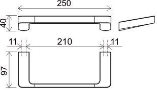 Полотенцедержатель Ravak 10° X07P324 Хром