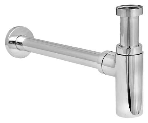 Cифон для умывальника телескопический из латуни