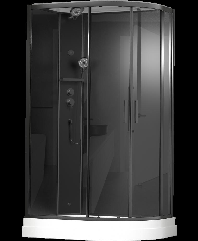 Душевая кабина Timo  Premium ILMA Black  902 L  (120*80*222)