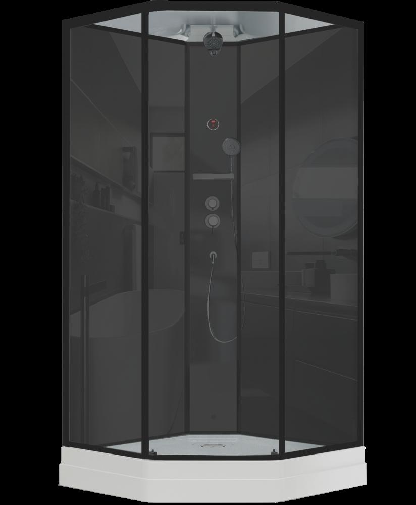 Душевая кабина Timo  Premium ILMA  Black 709  (90*90*222)