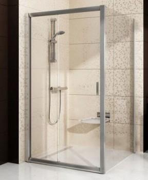 Неподвижная стенка для двери Ravak Blix BLPS-80 профиль сатин стекло прозрачное, 9BH40U00Z1