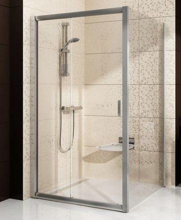 Неподвижная стенка для двери Ravak Blix BLPS-90 профиль блестящий, стекло матовое, 9BH70C00ZG