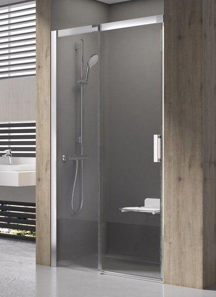 Душевая дверь раздвижная Ravak Matrix MSD2-120 см R правый, сатин профиль, прозрачное стекло, 0WPG0U00Z1