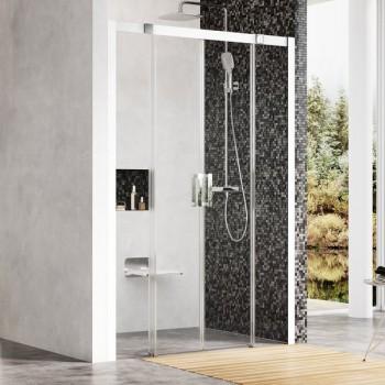 Душевая дверь раздвижная Ravak Matrix MSD4-160 см сатин профиль, прозрачное стекло, 0WKS0U00Z1