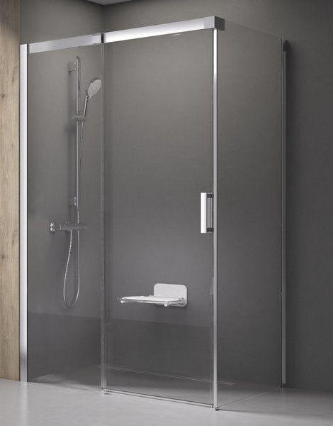 Душевой уголок с неподвижной стенкой Ravak Matrix MSDPS-100/80 см R правый, белый профиль, прозрачное стекло, 0WPA4100Z1