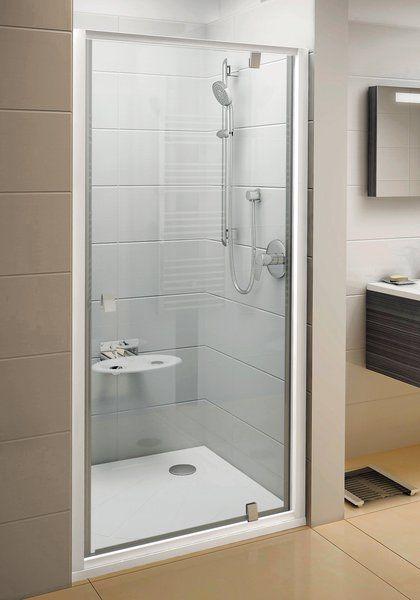 Душевая дверь поворотного типа Ravak Pivot PDOP1-90 см профиль сатиновый, прозрачное стекло 03G70U00Z1