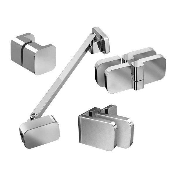Набор металлических компонентов B SET для двери  BSD2-100 L, хром, D01000A086