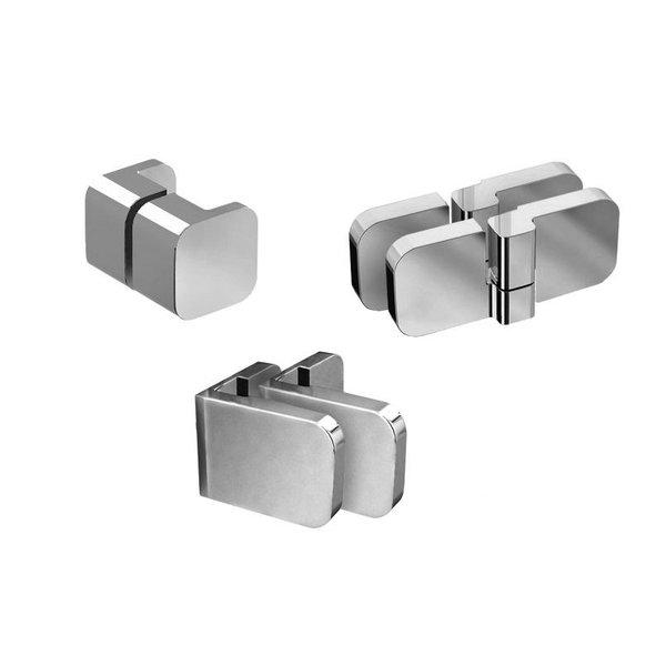 Набор металлических компонентов B SET для двери  BSD2-80, 90 L, хром, D01000A086