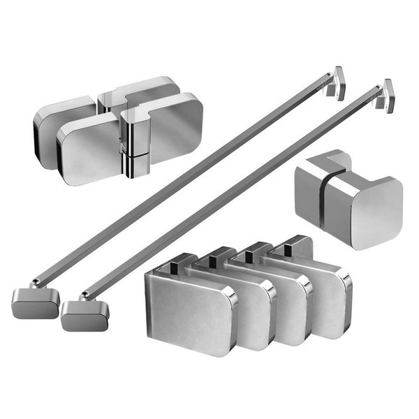 Набор металлических компонентов B SET для душевого уголка BSDPS-L 120 хром, D01000A082