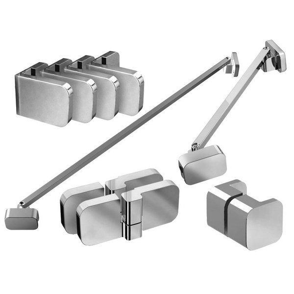 Набор металлических компонентов B SET для душевого уголка BSDPS-L 100 хром, D01000A078