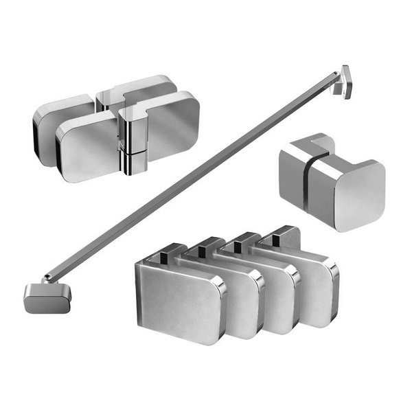 Набор металлических компонентов B SET для душевого уголка BSDPS-L 80, 90 хром, D01000A076