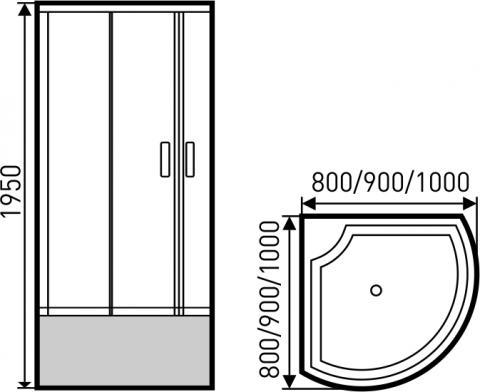 Golden Frog Душевой угол SRGF-091 800х800х1950 мм