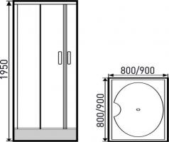 Golden Frog Душевой угол SRGF-094 900x900X1950 мм_1