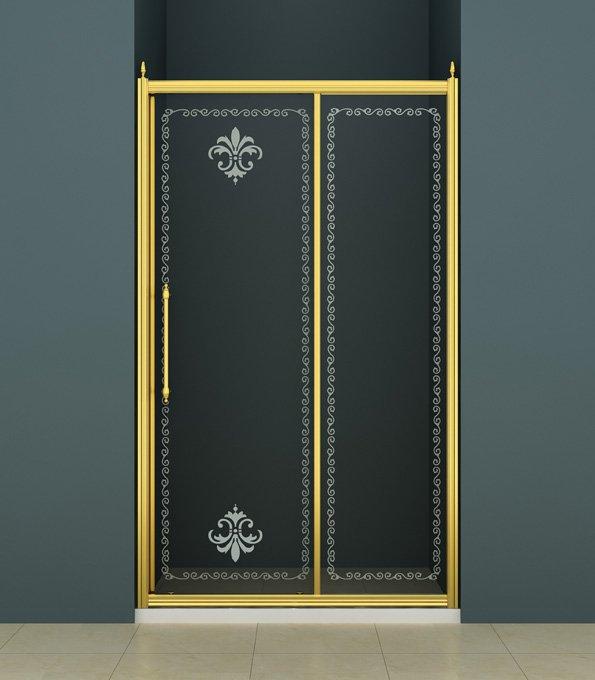 Душевая дверь CEZARES RETRO-BF-1-110-CP-Br