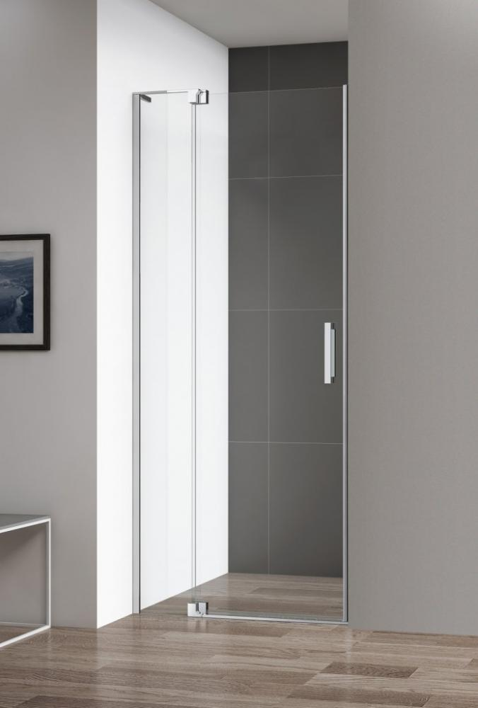 Душевая дверь в нишу CEZARES SLIDER-B-1-80/90-GRIGIO-Cr