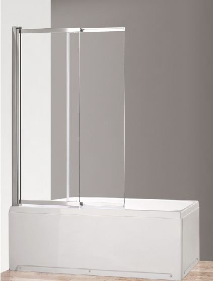 Душевая шторка на ванну CEZARES ECO-O-VF-11-100/145-C-Cr