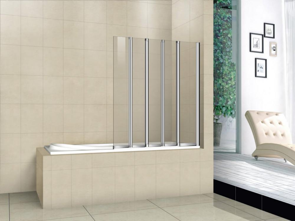 Шторка на ванну CEZARES PRATICO-V-5-120/140-P-Cr-L
