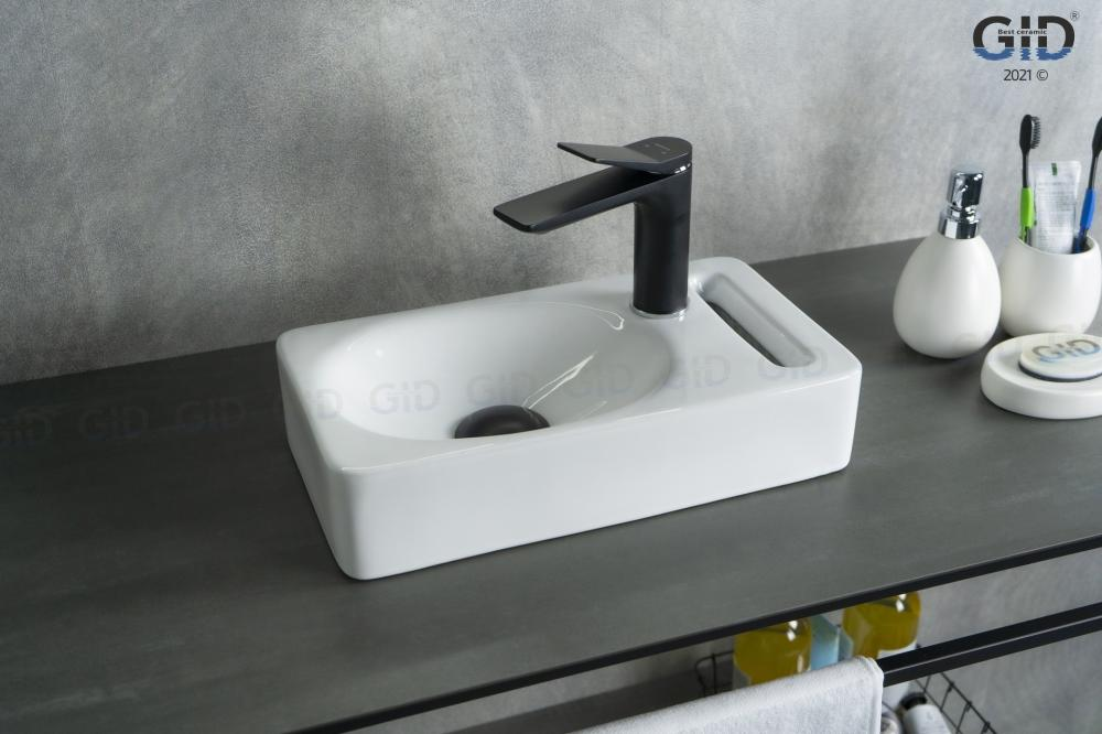 Подвесная белая раковина для ванной Gid N9262