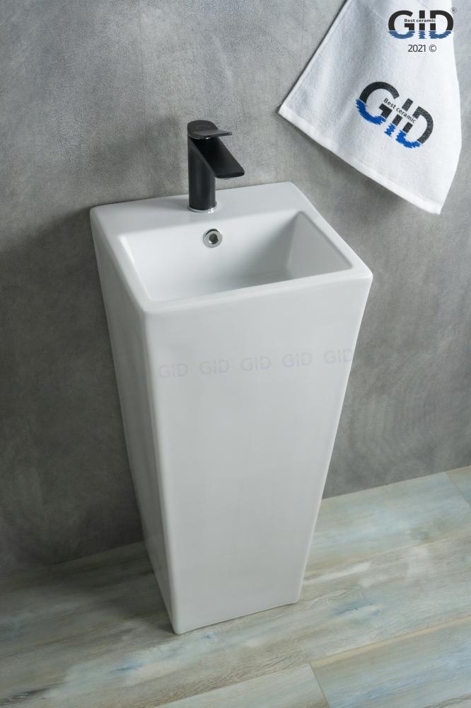 Напольная белая раковина для ванной Gid Nb147