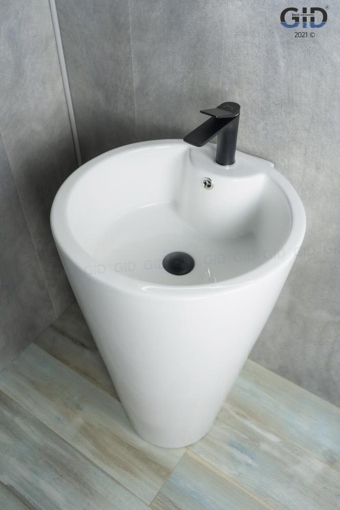 Напольная белая раковина для ванной Gid Nb136