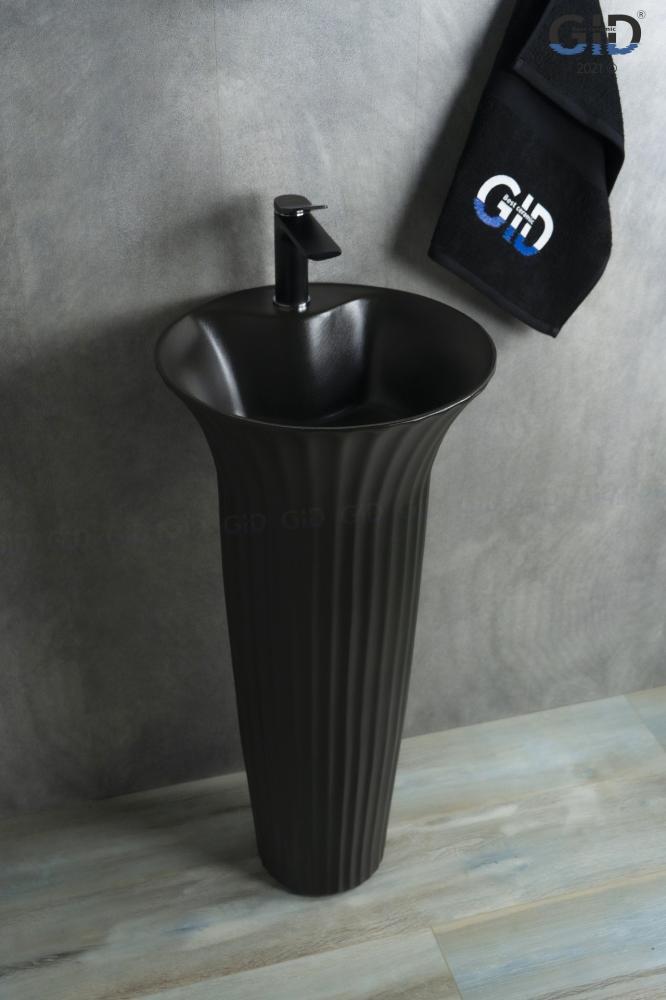 Напольная раковина Gid Nb132bg черный графит