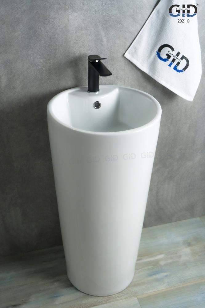 Напольная белая раковина Gid Nb131
