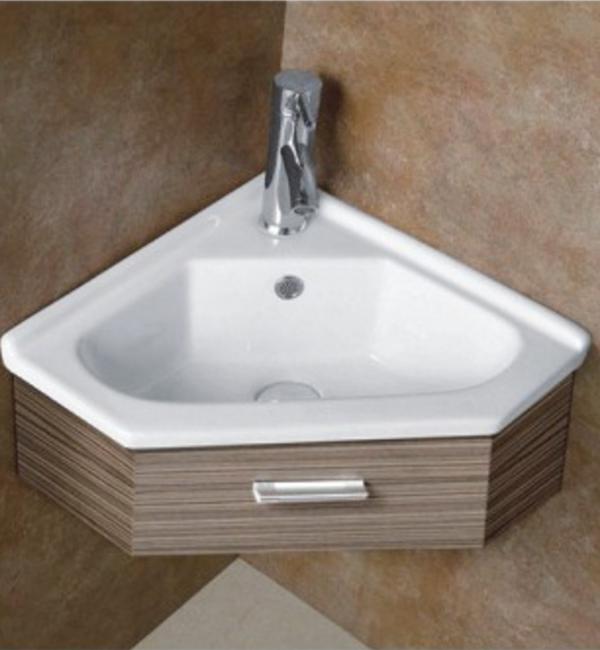 Встраиваемая сверху угловая белая раковина для ванной Gid N9068b