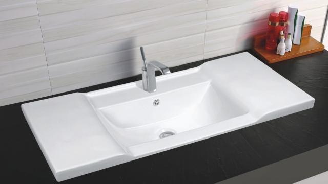 Врезная белая раковина для ванной Gid NYJ839-70