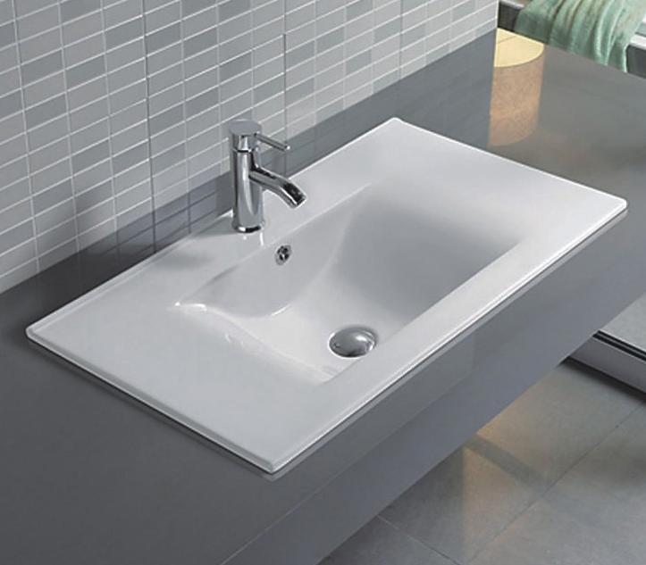 Врезная белая раковина для ванной Gid NYJ807-60