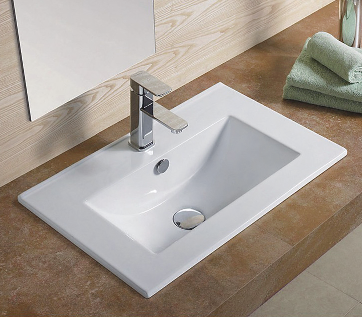 Врезная белая раковина для ванной Gid NYJ803-100