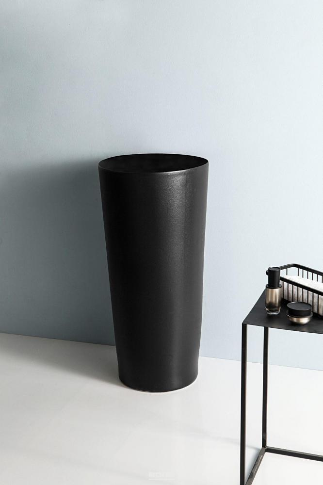 Напольная черная раковина для ванной Gid Nb130bg