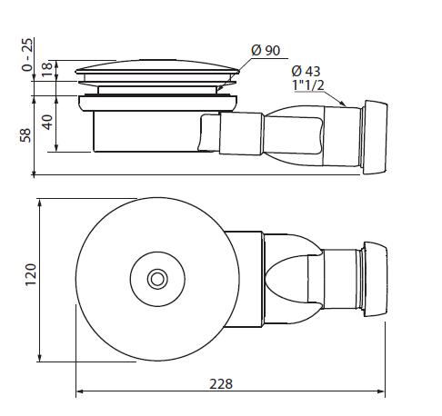 Сифон CZR-02-90