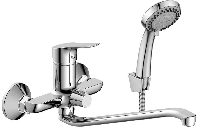 Смеситель Rossinka RS29-34 для ванны универсальный с S-образным изливом