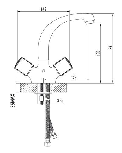 Смеситель для умывальника – LM2307C
