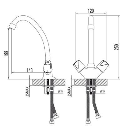 Смеситель для кухни – LM2404C