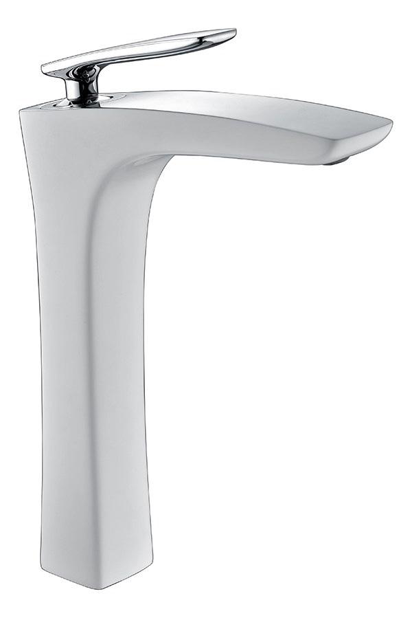 Timo Helmi смеситель 4011/00-16F chrome white   (hfrjdbyf с высоким изливом)