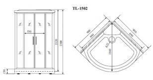 Душевая кабина Timo TL-1502 (92*92*230)_1